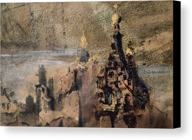 Victor Hugo Canvas Print featuring the painting Memory Of Spain by Victor Hugo