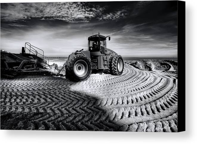 Dredge Canvas Print featuring the photograph Moving Heaven And Earth by Wayne Sherriff