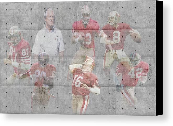 49ers Canvas Print featuring the photograph San Francisco 49ers Legends by Joe Hamilton