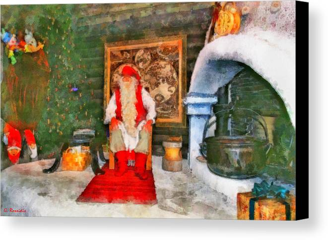 Rossidis Canvas Print featuring the painting Santa Claus by George Rossidis