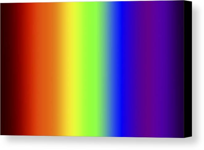 Biv Canvas Print featuring the digital art Spectrum Three by Gregory Scott