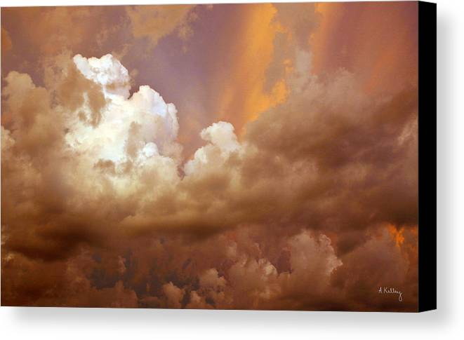 Storm Clouds Canvas Print featuring the photograph Storm Clouds by Andrea Kelley