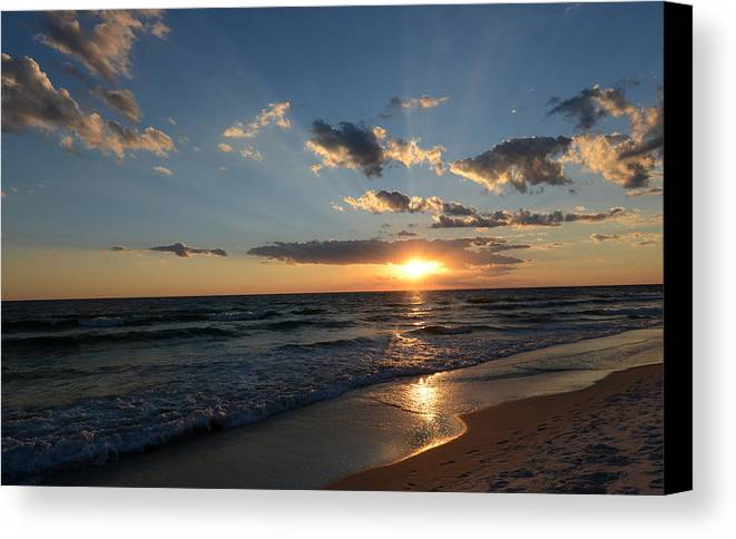 Sunset Canvas Print featuring the photograph Sunset On Alys Beach by Julia Wilcox