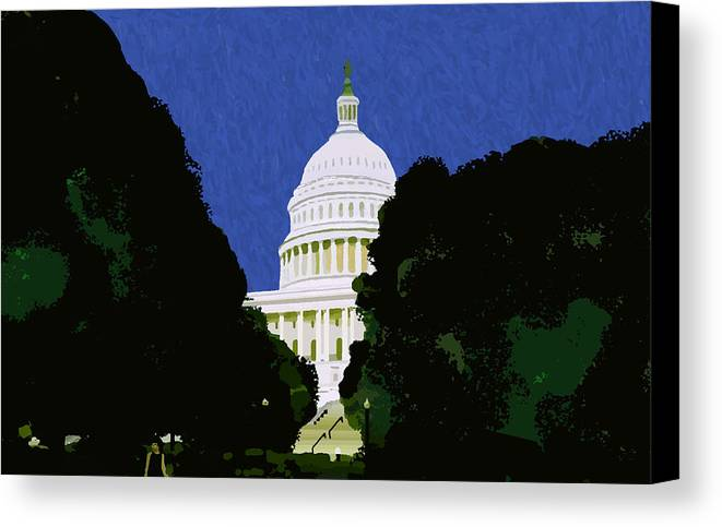Capitol Canvas Print featuring the painting The Capitol by Pharris Art