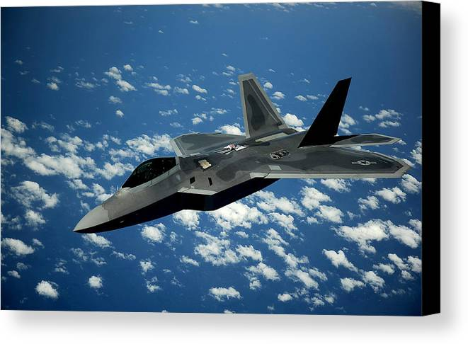 F-22 Raptor Canvas Print featuring the photograph The Raptor by Mountain Dreams