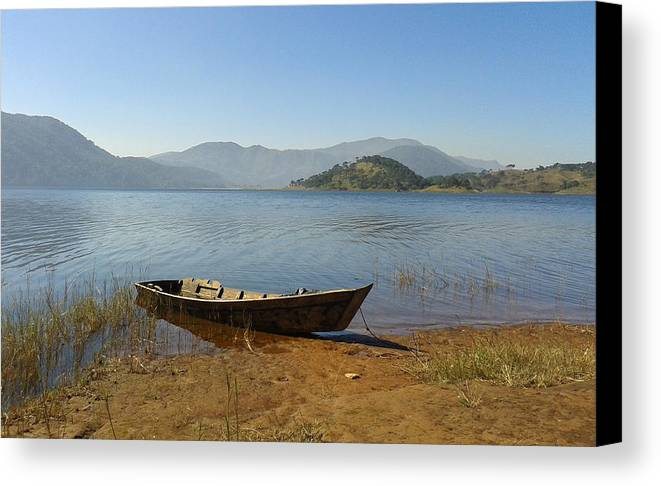 Umiam Lake Canvas Print featuring the photograph Umiam Lake by Mihir Joshi