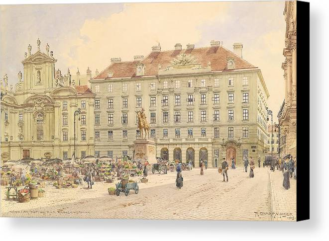 Vienna Canvas Print featuring the painting Vienna 1913 by Mountain Dreams