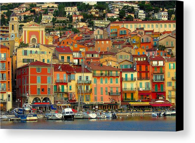 Villefranche Canvas Print featuring the photograph Villefranche by Jim Southwell