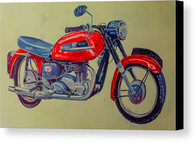 Bike Canvas Print featuring the photograph Wall Painted Motocycle by Ahmed Rashed