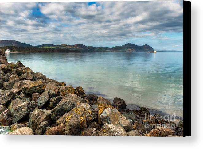 Hdr Canvas Print featuring the photograph Welsh Coast by Adrian Evans