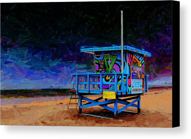 Trancus Beach Canvas Print featuring the photograph Summer Of Color by Ron Regalado