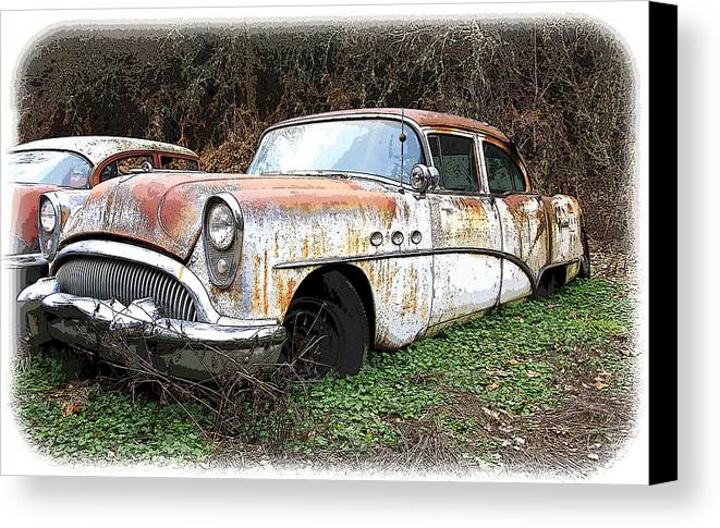 Buick Canvas Print featuring the photograph Buick Yard by Steve McKinzie