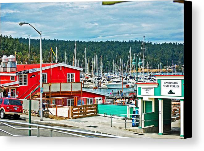 Landscape Canvas Print featuring the photograph Friday Harbor by Randall Templeton