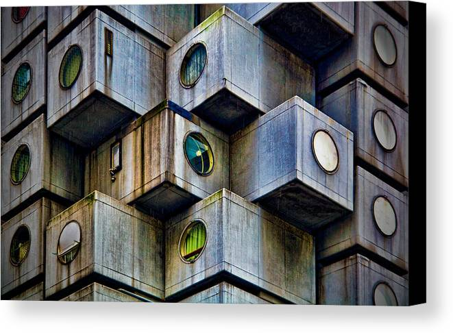 Horizontal Canvas Print featuring the photograph Living In Boxes by Kantor
