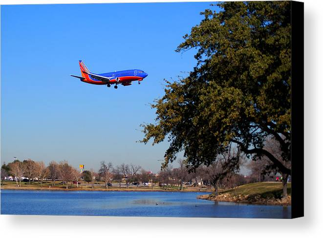 Landscape Canvas Print featuring the photograph Love Field Landing by Wendy Emel