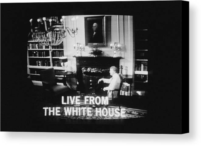 History Canvas Print featuring the photograph President Jimmy Carter Worn A Folksy by Everett