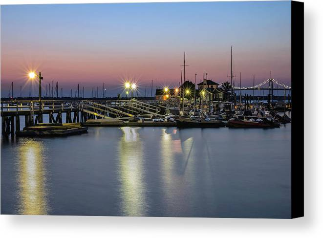 Newport Canvas Print featuring the photograph Safe Harbor by Robin-Lee Vieira