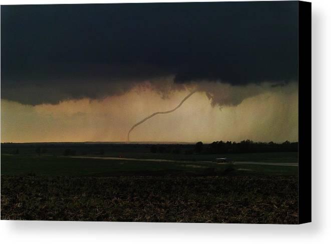 Tornado Canvas Print featuring the photograph Tornado by Bradley Hruza