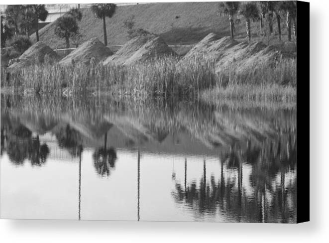 Pyrimids Canvas Print featuring the photograph Pyrimids By The Lakeside Cache by Rob Hans