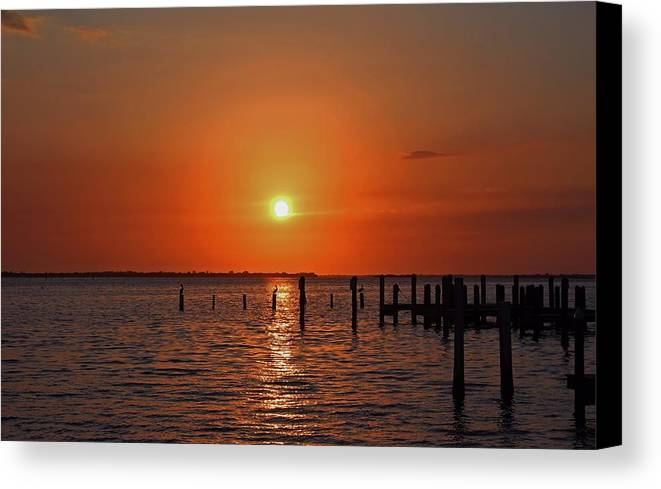 Sunset Canvas Print featuring the photograph Running On Borrowed Dreams by Michiale Schneider
