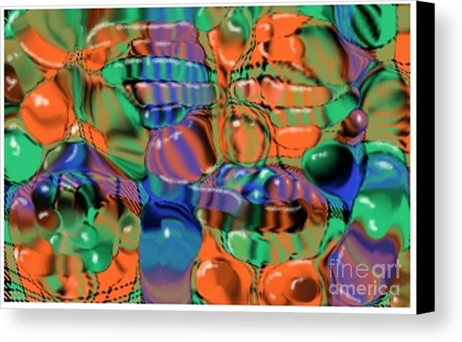 Abstract Canvas Print featuring the digital art 1297exp1 by Ron Bissett