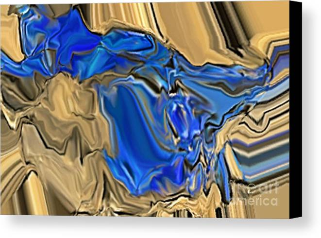 Abstract Canvas Print featuring the digital art 1297exp6 by Ron Bissett