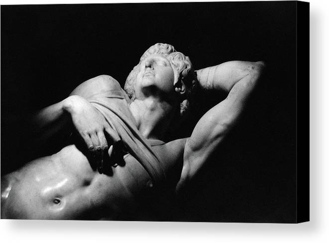 The Dying Slave Canvas Print featuring the photograph The Dying Slave by Michelangelo Buonarroti
