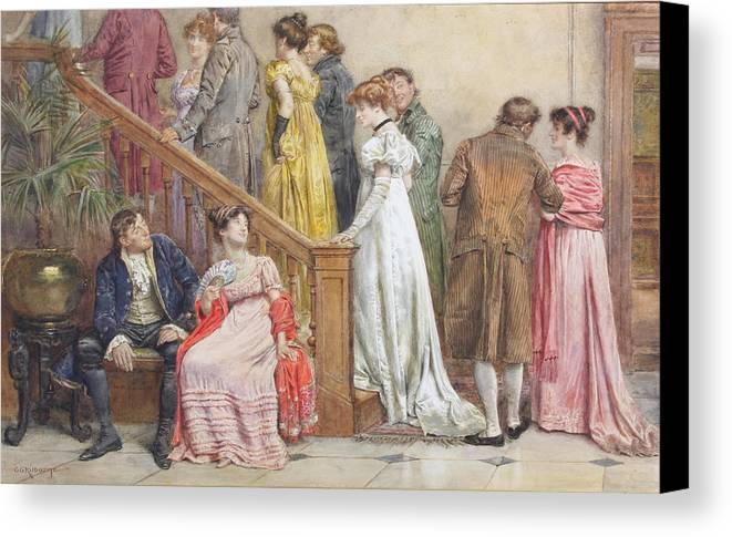 George Goodwin Kilburne The Next Dance Canvas Print featuring the painting The Next Dance by George Goodwin