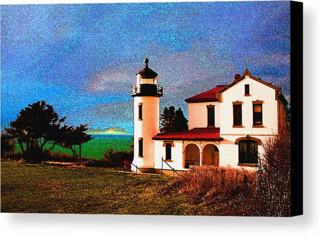 Lighthouse Canvas Print featuring the photograph Admiralty Head Lighthouse Dp15 by Mary Gaines