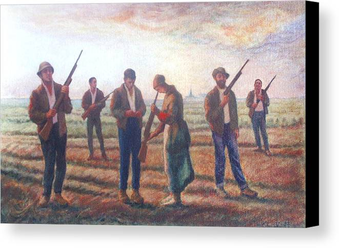Landscape Canvas Print featuring the painting Arms Inspection II by James LeGros