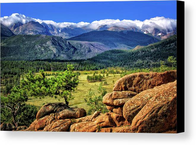 Beaver Meadows In Rocky Mountain National Park Canvas Print featuring the photograph Beaver Meadows In Rocky Mountain National Park by Carolyn Derstine