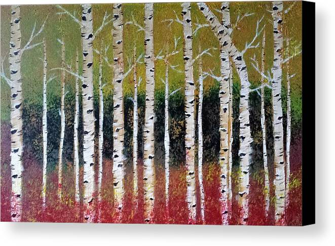 Trees Canvas Print featuring the painting Birch Trees by Sheli Paez