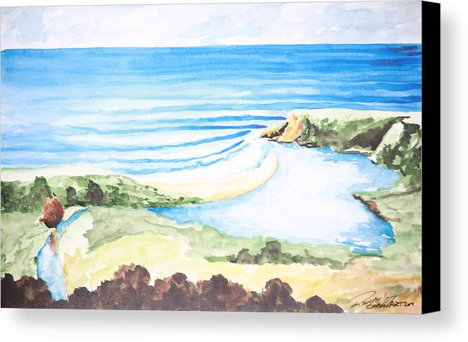 Surf Canvas Print featuring the painting Bluebird by Ronnie Jackson