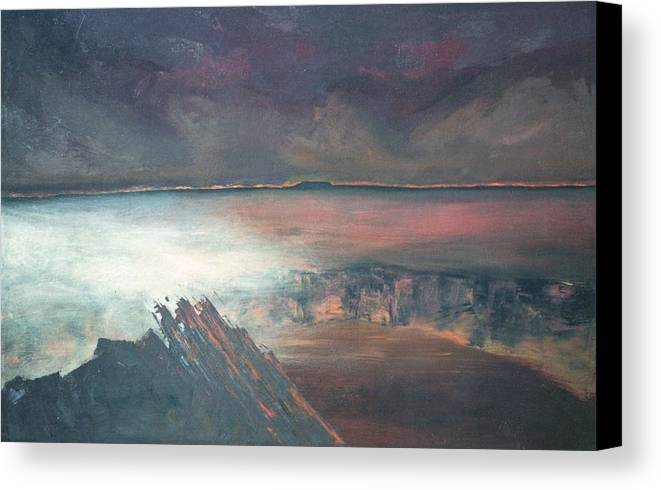 Lanscape Mountain Fire Desire Canvas Print featuring the painting Burning Soul by Peta Mccabe