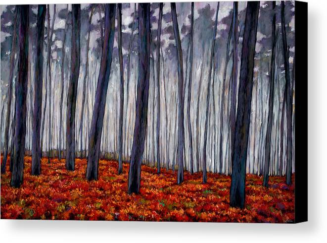 Landscape Canvas Print featuring the painting Crimson Walk by Johnathan Harris