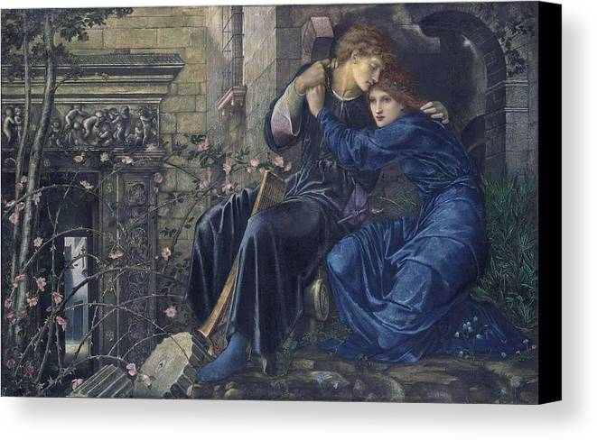 Girl Canvas Print featuring the painting Edward Burne-jones, Love Among The Ruins, 1894 by Edward Burne-Jones