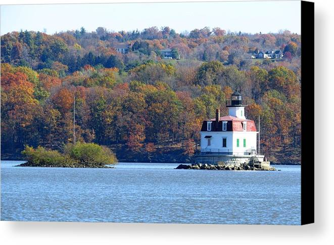 Landscape Photography Canvas Print featuring the photograph Esopus Lighthouse by Norman Vedder