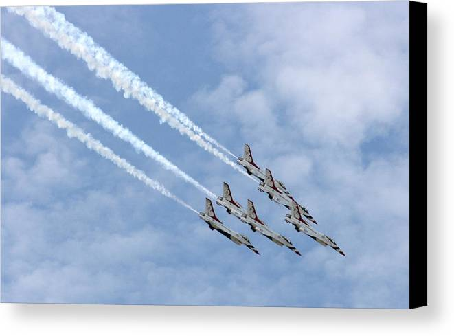Airplane Canvas Print featuring the photograph Faster Than A Speeding Bullet by David Dunham