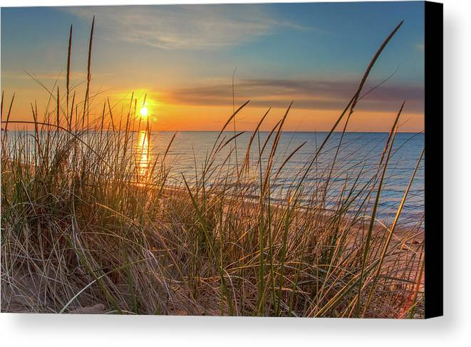Great Lakes Canvas Print featuring the photograph Huron Beauty by Ehrlich Gallery