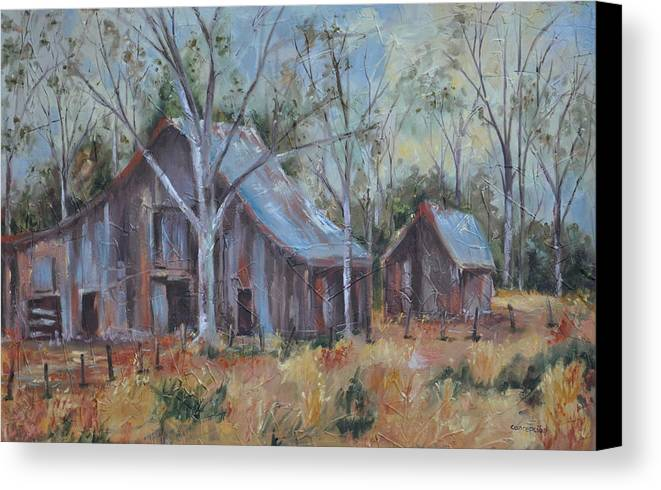 Barns Canvas Print featuring the painting If They Could Speak by Ginger Concepcion