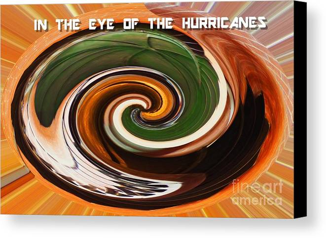 Abstract Canvas Print featuring the mixed media In The Eye Of The Hurricanes by Sharon Eng