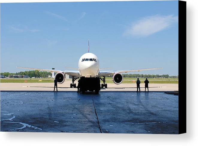 Jet Canvas Print featuring the photograph Jet Aircraft Rendering. by Robert Ponzoni