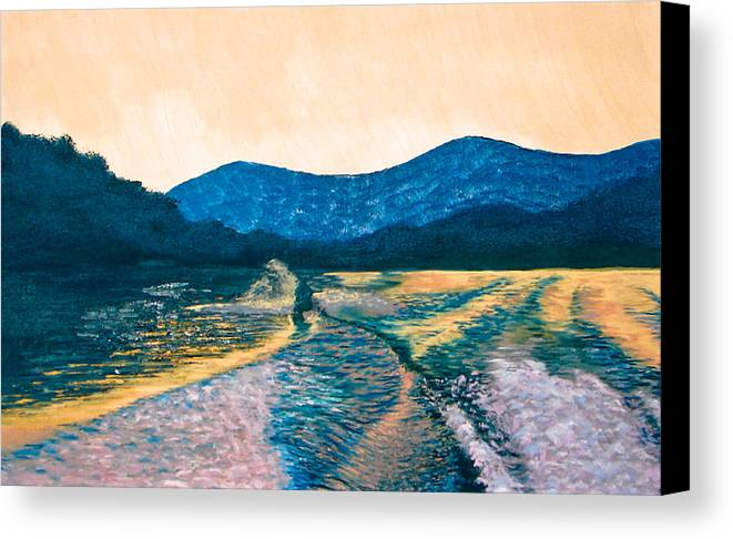 Knee Boarding Canvas Print featuring the painting Knee Boarding by Jesska Hoff