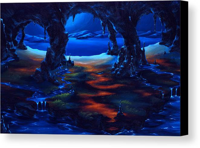 Textured Painting Canvas Print featuring the painting Living Among Shadows by Jennifer McDuffie