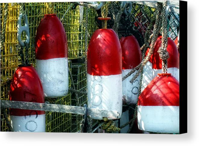 Bouys Canvas Print featuring the photograph Oh Bouy by Gina Cormier