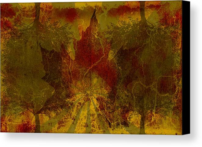 Nature Canvas Print featuring the digital art Ok Fall by Shawn Ross