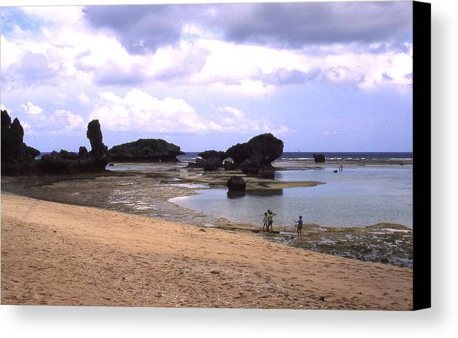 Okinawa Canvas Print featuring the photograph Okinawa Beach 18 by Curtis J Neeley Jr