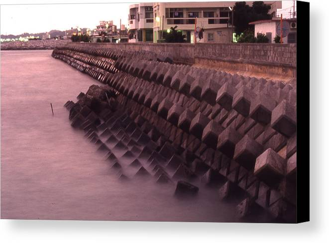 Okinawa Canvas Print featuring the photograph Okinawa Waves by Curtis J Neeley Jr