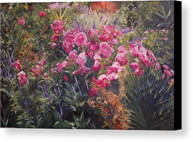 Konkol Canvas Print featuring the painting Olbrich Garden Series - Garden 1  by Lisa Konkol