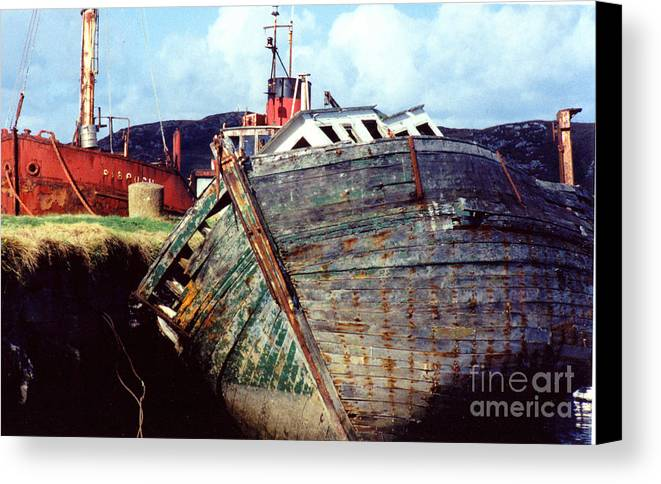 Old Boat Canvas Print featuring the photograph Old Boat by PJ Cloud